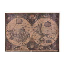 72x51cm Retro Vintage Globe Old World Map Matte Brown Paper Poster Home MC