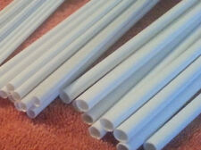 40 STYRENE ROUND TUBES -  ASSORTMENT LOT- 2 SIZES - ROD PIPE 8mm & 10mm