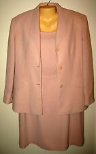 JADE - 12P MAUVE - 2 PC SUITE - SLEEVELESS DRESS WITH JACKET - EUC