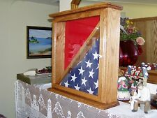 Burial Flag Military Award Display Case Red