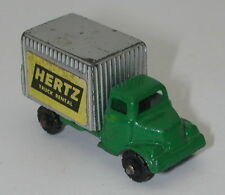 VINTAGE DIE CAST BARCLAY HERTZ RENTAL BOX TRUCK NICE GREEN oc15092