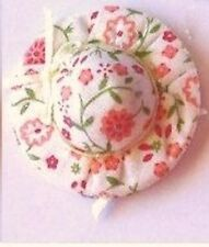 Pretty Floral Hat Dolls House Miniature , Dolls Clothing & Accessories