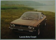 Lancia Beta Coupé S2 1600 2000 1977 -9 Prestige Original folleto de ventas 88795745