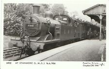 Train Postcard - At Stanmore [L.M.S.] 16.6.1934  A6054