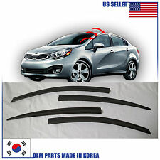 SMOKED DOOR WINDOW VENT VISOR DEFLEKTOR (A141)  KIA RIO SEDAN 2012-2016