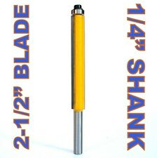 "1 pc 1/4"" SH 2-1/2"" Blade Extra Long Flush Trim Router Bit"