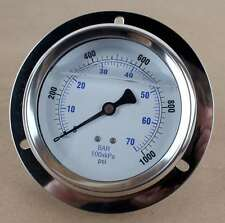 "New PIC Gauges 204L-404M-LT PIC Pressure Gauge 4"" 0-1000psi"