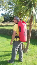 waterproof dry bag carry bag - holds 50L - Padded rucksack straps.