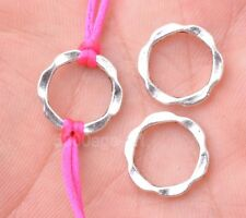 30pcs Tibetan silver flower ring beads beads Connectors findings 14mm A3154
