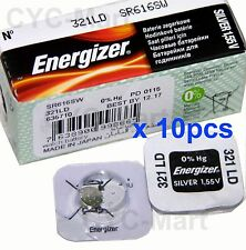 10 pcs Energizer 321 SR616SW Silver Oxide Watch Battery FREE POST tracking