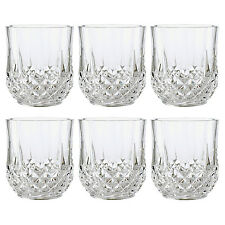 CRISTAL D'ARQUES 23CL LONGCHAMP 6 PIECE DIAMAX CRYSTAL CLEAR GLASS MIXER TUMBLER