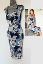 Phase Eight Dahlia Floral Print Silky Jersey Cowl Neck Pencil Dress UK10  38 £99