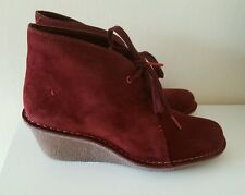 Clarks women's Marsden Lily burgundy suede boots - Size UK 7/ Euro 41 RRP £69.99