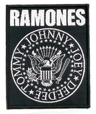 RAMONES Woven Patch CLASSIC SEAL Aufnäher ♫ Punk Rock ♫ Joey Jonny Deedee Tommy