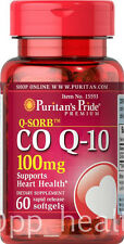 Puritan's Pride Q-Sorb ™ CO Q-10 100 mg 60 softgels Heart Health Made in USA