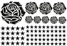 93 Rosen Sterne Star Auto Aufkleber Set Sticker Rosen Stylin Wandtattoo Blumen x