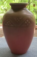 Rookwood Art Pottery 1928 Mission Style 5 Inch Vase Repeating Diamonds Pattern