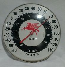 "Vintage Mobil Mobilgas Pegasus Gas Station 12"" Thermometer Sign by Ohio"