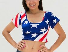 American flag, Stars and Stripes women crop top