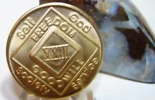 Narcotics Anonymous NA 23 Year Clean Bronze Medallion Recovery Coin Chip Token