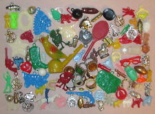 Vintage Gumball Machine Prizes, Charms Cracker Jack Rings Bird Chirper (100) +