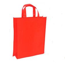 1PC Red reusable shopping Non-woven Shopping Bag Reusable Tote Folding Storage
