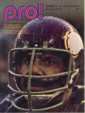 New York Giants St Louis Cardinals 11/28/71 NFL Game Program Jim Marshall