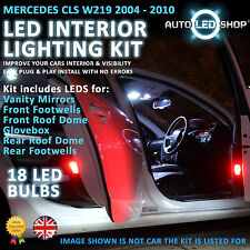 MERCEDES BENZ CLS W219 SMD LED INTERIOR FULL KIT SET LIGHT BULBS XENON WHITE