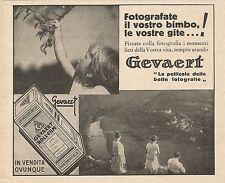 Z0394 Gevaert - Fotografate il vostro bimbo - Pubblicità del 1931 - Advertising