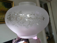 RETRO VINTAGE 1960`S LIGHT /LAMP SHADE FROSTED TO CLEAR FLOWER PATT FLUTED EDGE