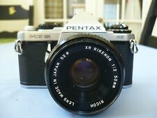 PENTAX ME Super 35mm SLR Camera w/Ricoh Lens f=50mm 1:2.0