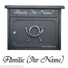 Briefkasten Folienschrift Aufkleber - Dein Text / Name nach Wahl 15cm länge