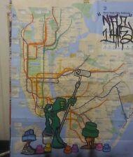 NYC GRAFFITI SUBWAY MAP NAC143/STYLE WARS/BURNERS
