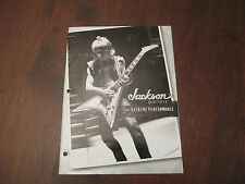 JACKSON GUITAR 2005 CATALOG BOOK - RANDY RHOADS ON COVER