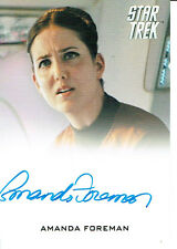STAR TREK MOVIES 2014 AUTOGRAPH CARD AMANDA FOREMAN AS HANNITY