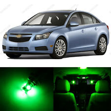 7 x Green LED Interior Light Package For 2011 - 2014 Chevrolet Chevy Cruze