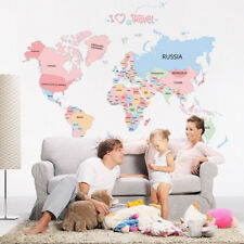 World Map Removable Vinyl Wall Sticker Home Office Art Decal Living Room Decor