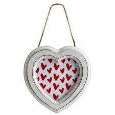 San Valentín Shabby Chic corazón marco fotográfico Colgante De Pared Vintage Nuevo