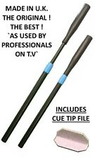 Telecue Extenda Push-on Telescopic Snooker/Pool Cue Extension with cue tip file