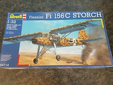 Revell 1/32 Fieseler Fi 156C Storch Aircraft Great Condition Rare Metal Parts