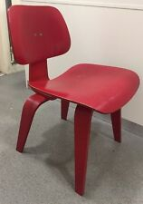 Eames Red Dcw Chairs Genuine Plywood Red LCW By Vitra