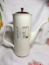 Taylor Smith Taylor Cathay Coffee Pot Atomic Moderne Mid-Century Wooden Lid