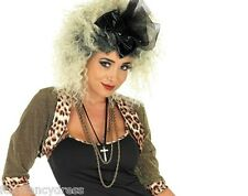 Wild Child Blonde Curly Permed Wig Madonna 80's 1980's Pop Star Fancy Dress