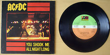 "AC/DC 1980 YOU SHOOK ME ALL NIGHT LONG  7"" VINYL 45 P/S (K 11321)"