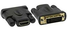DVI-D Male Dual Link (24+1) to HDMI-F (19-pin) Adapter Gold Plated #ADVID1-HM2