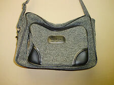 Pierre Cardin Charcoal Gray Duffel Bag Luggage Carry On Bag w/ Shoulder Strap