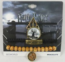 Harry Potter Deathly Hallows Always 4 Pack Arm Party Cord Bracelet Set Charms