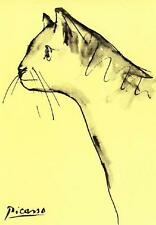CAT, CHAT, KATZE, FROM INK DRAWING BY PICASSO, MAGNET