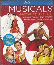 Musicals 4-Movie Collection Blu-ray Band Wagon/Singin' In The Rain + 2 Brand New