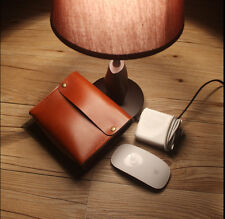 Hand Made Leather Bag Pouch Case for Apple Macbook Air/Pro Charger+Magic Mouse